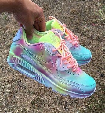hot sale online e9c05 3fc84 Sneakers - Women s Fashion   Nike Air max 90 pastel splash customs Unisex.  by JKLcustoms