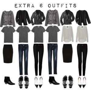 Women's+French+Chic+Wardrobes | Extra 6 Outfits from the 5 Item French Wardrobe by Raelynn8