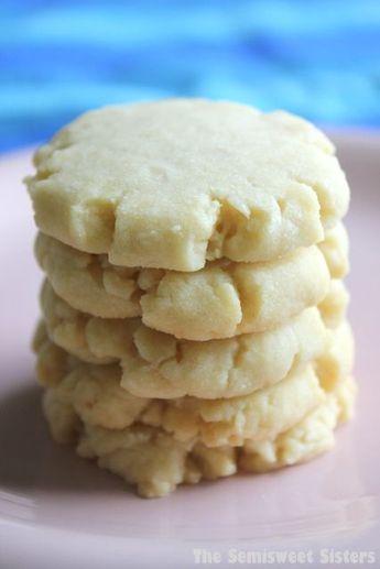 Vanilla Shortbread Cookies (4 Ingredient)