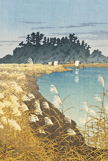 Kawase Hasui (Japan, 1883-1957), Late Fall, Ichikawa, 1930, Gift of Chuck Bowdlear, Ph.D., and John Borozan, M.A. (M.2003.67.111), © Estate of Kawase Hasui