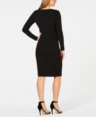 4bbb992b Calvin Klein Embellished Sheath Dress - Black 16