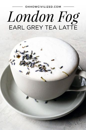 With an Earl Grey tea base, London Fog is a tea latte with warm milk, vanilla extract, and sweetened with sugar.Make London Fog at home with this simple yet tasty recipe. #earlgrey #tealatte #londonfog #hotdrinks