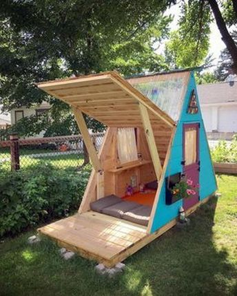 41 Creative Frame Playhouse Designs For Your Kids (1