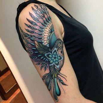 fb10ac209 lace bird tattoo by SAVCI DEMIRKOL #lace #bird #art #ink #i