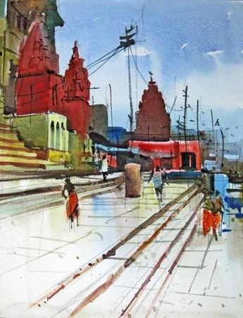 Painting canvas city cityscapes 27 ideas #painting