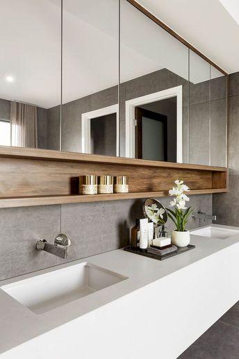 55 Stunning Farmhouse Bathroom Mirror Design Ideas And Decor