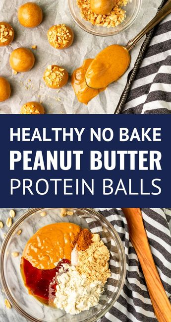 Peanut Butter Protein Balls -- these no bake peanut butter energy bites are packed with protein and healthy fats. Made with just 5 ingredients (no oats!), they're quick and easy to make. These protein bites are a perfect healthy snack idea that adults and kids alike will LOVE! #proteinballs #peanutbutter #healthysnacks #dairyfreerecipes #mealprepideas