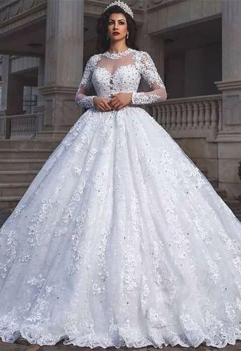 f7dcdcbde4 demetrios 2019 bridal long sleeves sweetheart neckline full