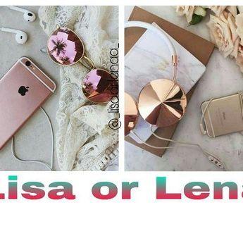 Lisa or Lena? Subject: Phone w/ Earphones/Headphones My Choice: Lena