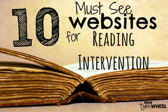 websites for reading intervention to support struggling readers