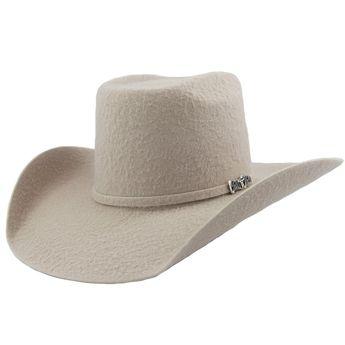 764fa92c2ccbb Cuernos Chuecos 10x Silver Belly Grizzly Brick Crown Cowboy Hat