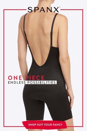Suit Your Fancy Plunge Low-Back Mid-Thigh Bodysuit