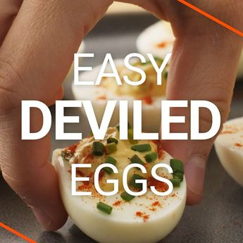These Easy Deviled Eggs are a cinch to make thanks to my trick for making the best hard boiled eggs! They're also delicious and loaded with the creamiest filling of mayo, apple cider vinegar, dijon, horseradish, Worcestershire, relish, salt, paprika, and chives! showmetheyummy.com #eggs #deviledeggs