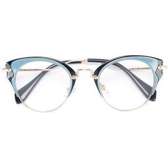 79cd616fedd Miu Miu Eyewear cat eye glasses ( 351) ❤ liked on Polyvore featuring  accessories
