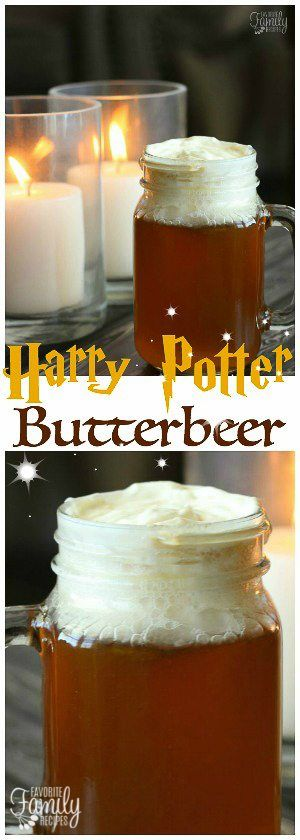 Our Version of Harry Potter Butterbeer tastes just like what they sell at the Wizarding World of Harry Potter. A no-cook method that is SO easy! #butterbeer #butterbeerdrink #harrypotterbutterbeer #harrypotterrecipes #butterscotch #butterscotchdrink #FavoriteFamilyRecipes #favfamilyrecipes #FavoriteRecipes #FamilyRecipes #recipes #recipe #food #cooking #HomeMade #RecipeIdeas via @favfamilyrecipz