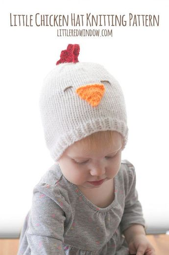 c2be354b891 Baby Chicken Hat KNITTING PATTERN   Knitted Chicken   Chicken Pattern   Baby  Rooster Hat