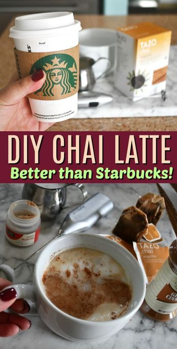 DIY Starbucks Chai Latte