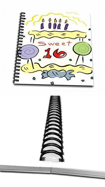 3dRose TDSwhite – Birthday - Happy Sixteenth Birthday - Memory Book 12 x 12 inch (db_285685_2)
