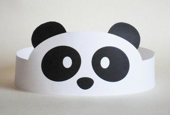 Panda Paper Crown - Printable