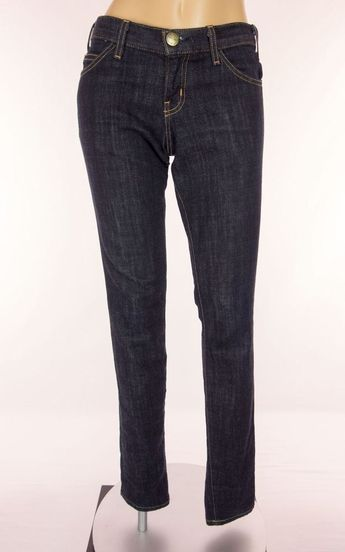 9532a9cef CURRENT ELLIOTT Jeans Size 25 S Small Deadstock Dark Blue Wash Low Rise  Pants  CurrentElliott