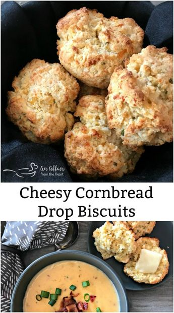 Cheesy Cornbread Drop Biscuits