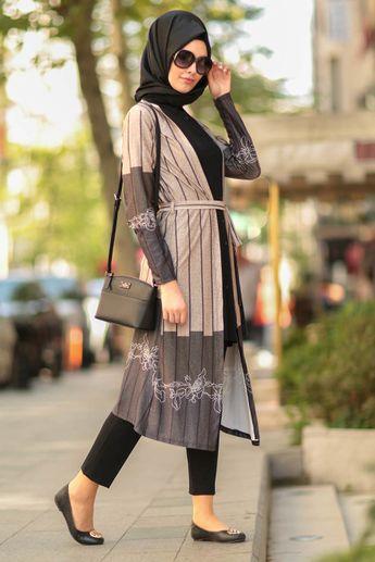 f40c7b2df42d2 Nayla Collection - İkili Siyah Tesettür Tunik Takım 77580S #hijab  #tesetturisland #tunik #