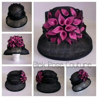 154027ebf5f Sinamay hats by Blek Rose Couture