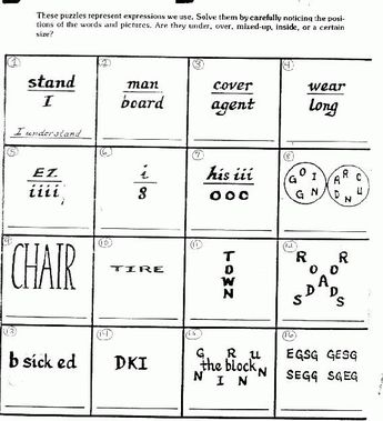 Brain teasers puzzles packet with answers