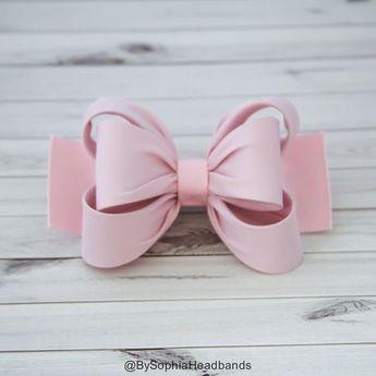 90faba53e366 Light Pink Hair Clip, Pink Bow Hair Clip, Bow Hair Clip, Toddler Pink