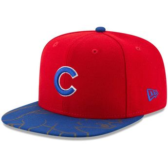 32726ba64 Men s Chicago Cubs New Era Red Royal Front Flect Logo Snap 9FIFTY  Adjustable Hat