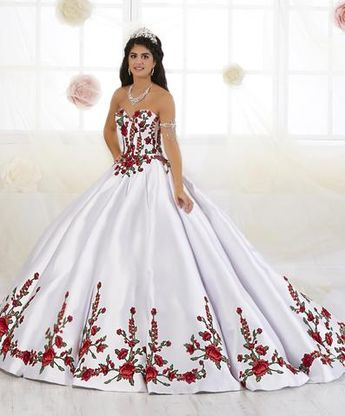 9e6c4f19b69 Floral Embroidered Quinceanera Dress by House of Wu 26908
