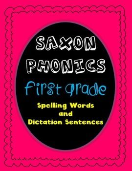 Saxon Phonics Rule Posters bright polka dots KG Phonics rules