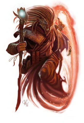 Dragonborn Mage D&D