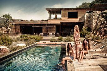 Villa contemporaine en pierre de pays en Corse