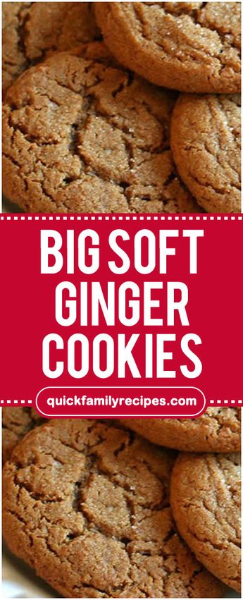 Big Soft Ginger Cookies #bigsoft #ginger #cookies #easyrecipe #delicious #foodlover #homecooking #cooking #cookingtips