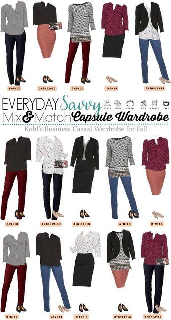 Kohls Fall Business Casual Capsule Wardrobe