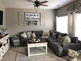 harmony- The room is very cozy due to the fact that it is made up of a similar color scheme which makes it so no one feature sticks out from the rest. #basementdecoratingpictures