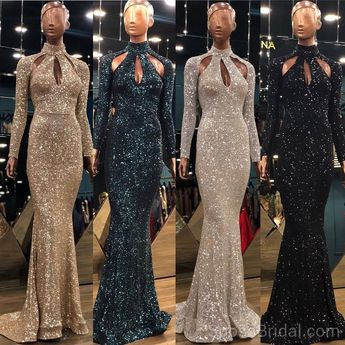 Sparkly Sequin Shinning Modest Long Sleeves Unique Design Fashion Popular Long Prom Dresses, party queen dress, PD1211 Sparkly Sequin Shinning Modest Long Sleeves Unique Design Fashion Popular Long Prom Dresses, party queen dress, PD1211