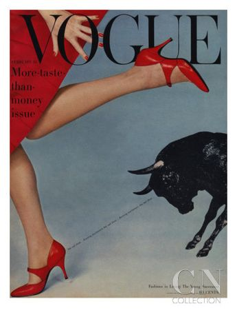 Vogue Magazine Cover Featuring A Woman Running by Richard Rutledge