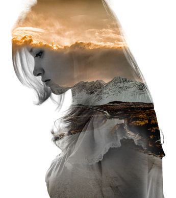 Double Exposure Portraits Where I Merge Two Worlds Into One