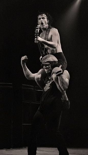 Angus Young and Brian Johnson , AC/DC