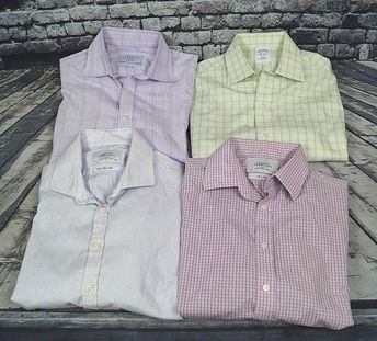 9aa40853 Charles Tyrwhitt Brooks Brothers Shirt Lot of 4 Slim Dress Shirts Mens  Medium M #fashion