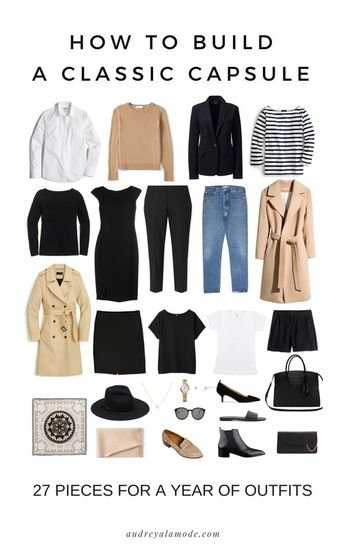 How To Build A Classic Capsule | 27 Easy Pieces For A Year Of Outfits
