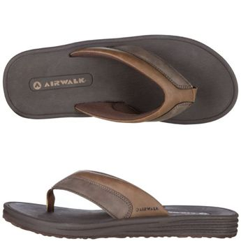 7c2b5524aa6b Mens leather flip flops sandals thongs ~ black or brown ~ size 12 brand new