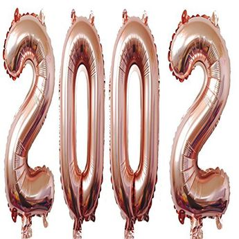 2002 Balloons 40 Inch Rose Giant Jumbo Helium Foil Mylar Balloons for 16th Birthday Party Decoration