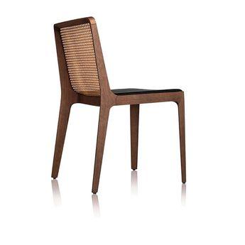 Malha chair, seat upholstered