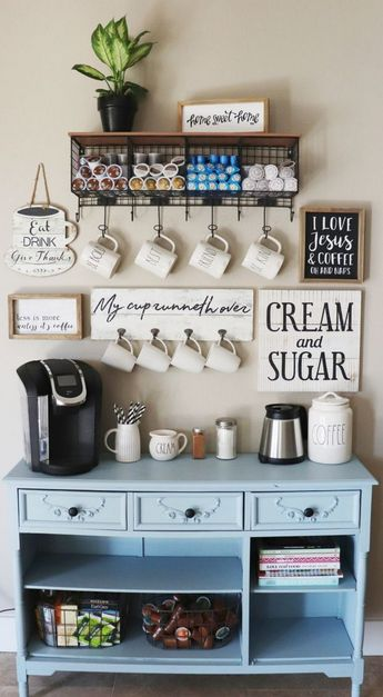 34 Coffee Station Ideas for Your Morning Buzz