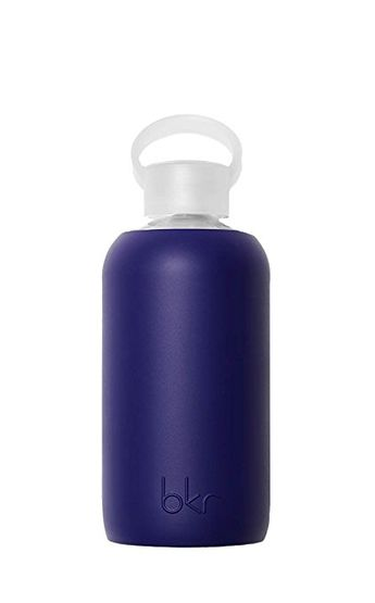 bkr - BEST Original Glass Water Bottle - Premium Quality - Soft Silicone Protective Sleeve - BPA Free - Dishwasher Safe