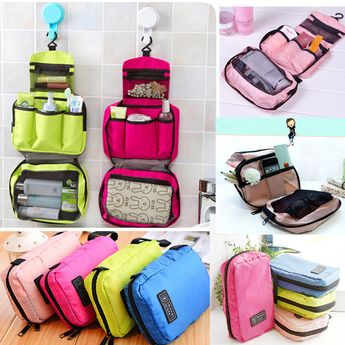 Details about Women Travel Camping Toiletry Hanging Wash Portable Makeup Cosmetic Storage Bag