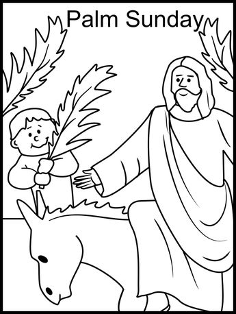 Printable Happy Easter Jesus Arrives On Palm Sunday Coloring Pages 2015Holiday Pictures | Holiday Pictures (shared via SlingPic)